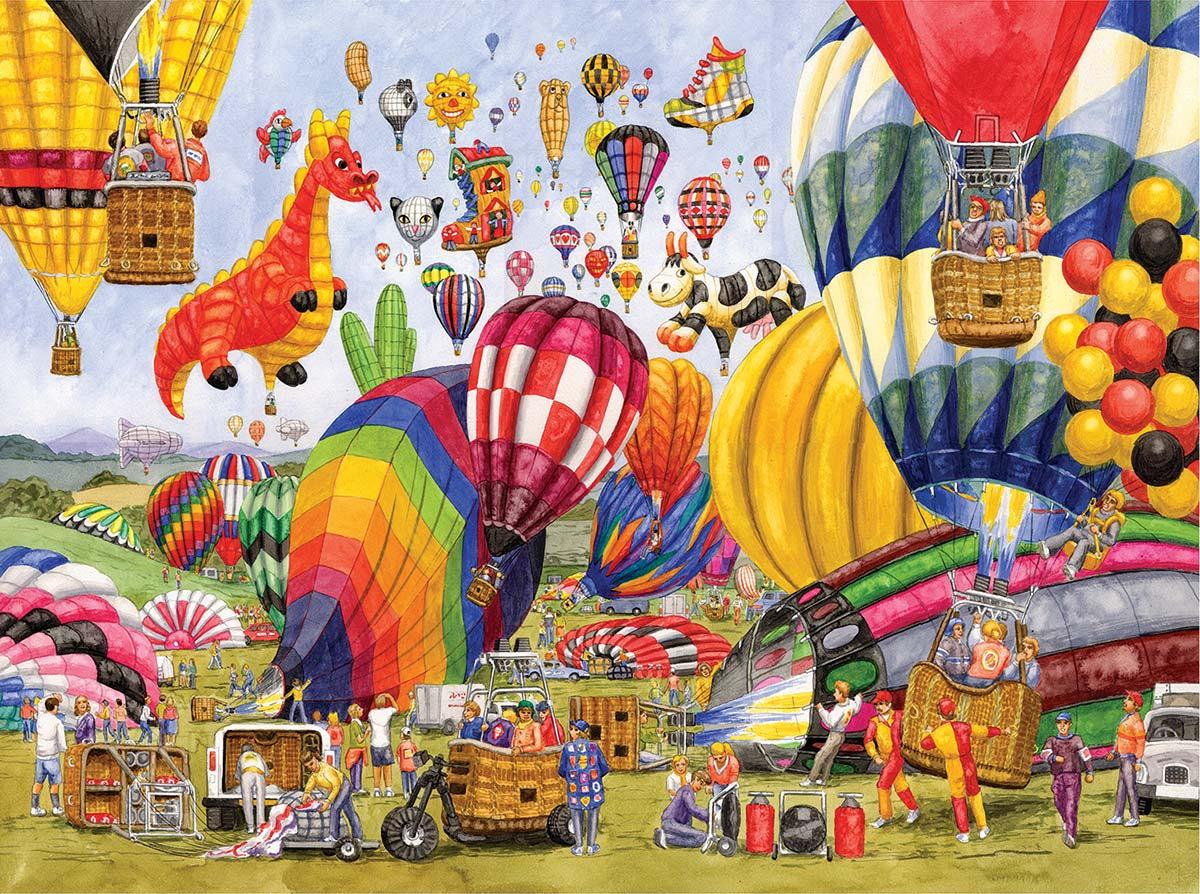 Balloon Landing Balloons Jigsaw Puzzle