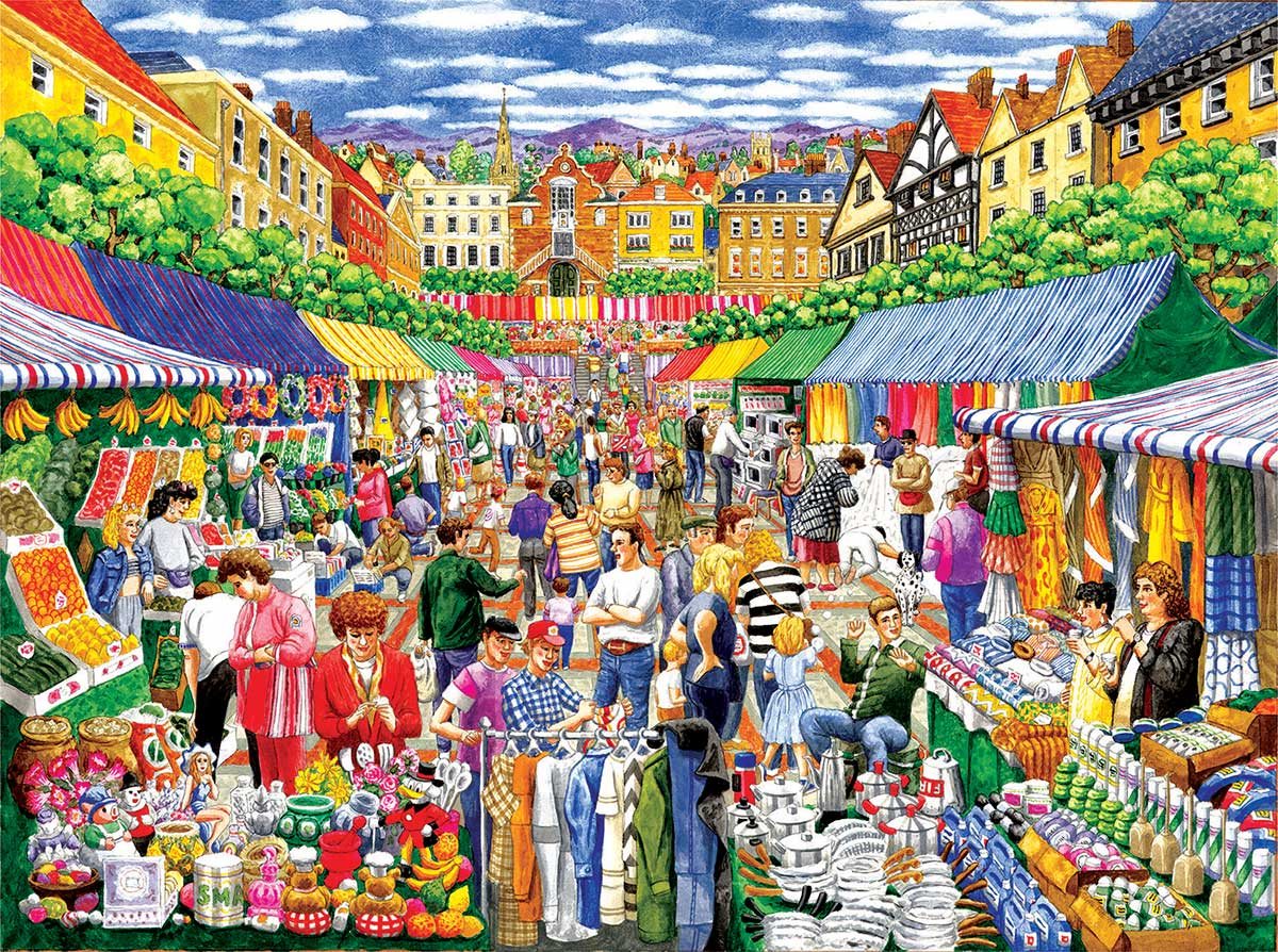 A Day at the Marketplace Food and Drink Jigsaw Puzzle