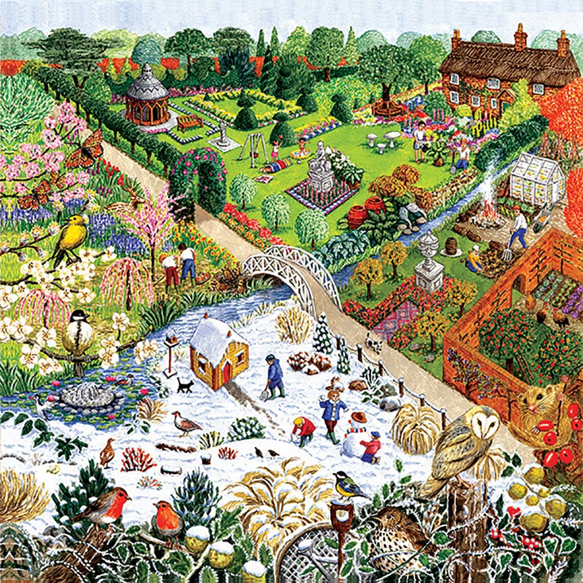 Four Seasons Garden Garden Jigsaw Puzzle