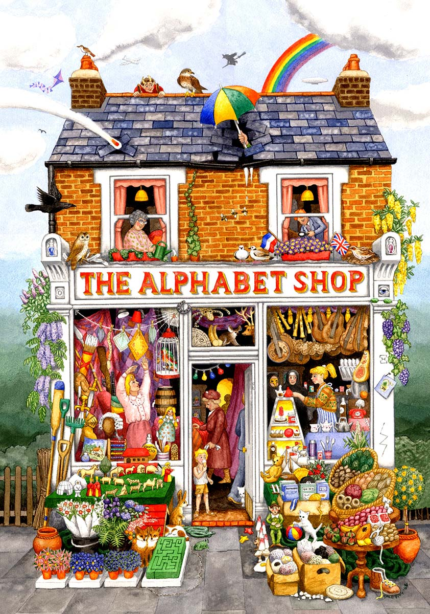 The Alphabet Shop Shopping Jigsaw Puzzle