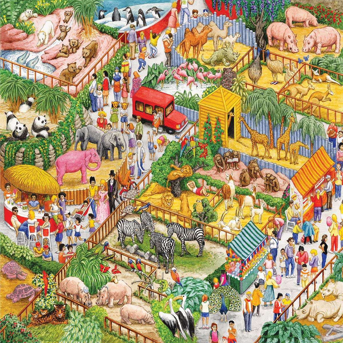 A Crazy Zoo - Scratch and Dent Animals Jigsaw Puzzle