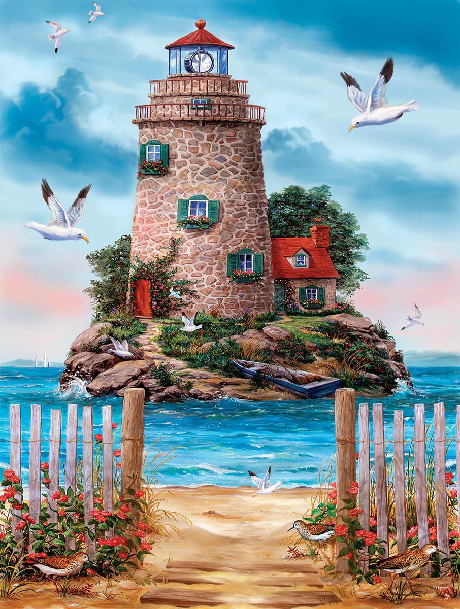Island Lghthouse Lighthouses Jigsaw Puzzle