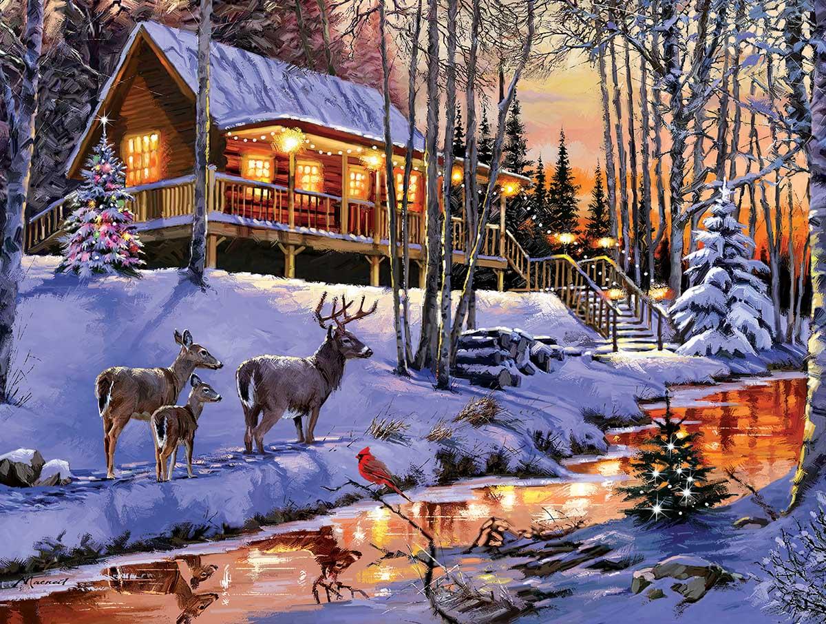 Cabin Light Animals Jigsaw Puzzle