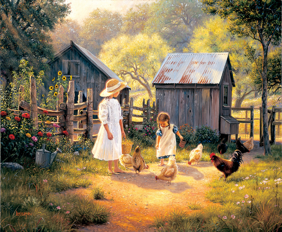 Doing our Chores Farm Jigsaw Puzzle