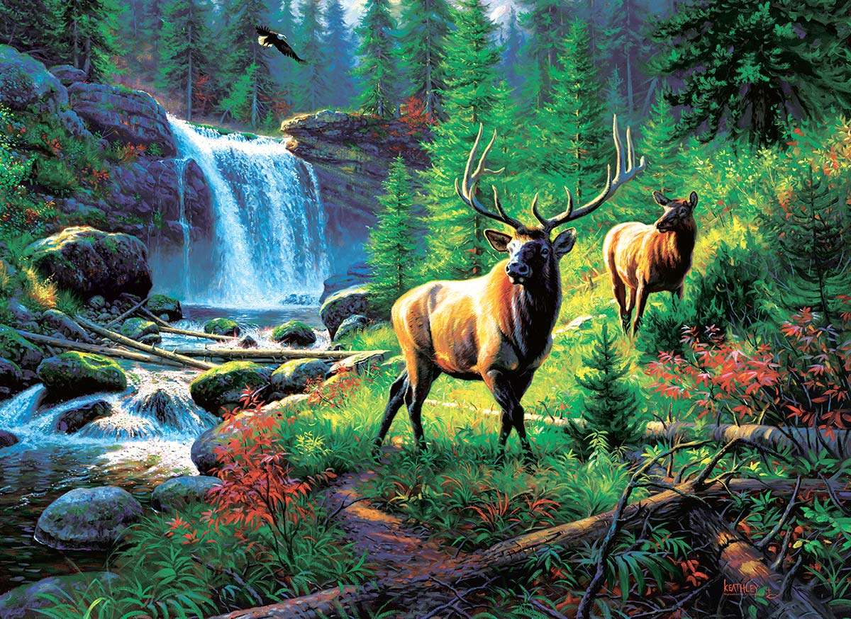 Mountain Harmony Wildlife Jigsaw Puzzle