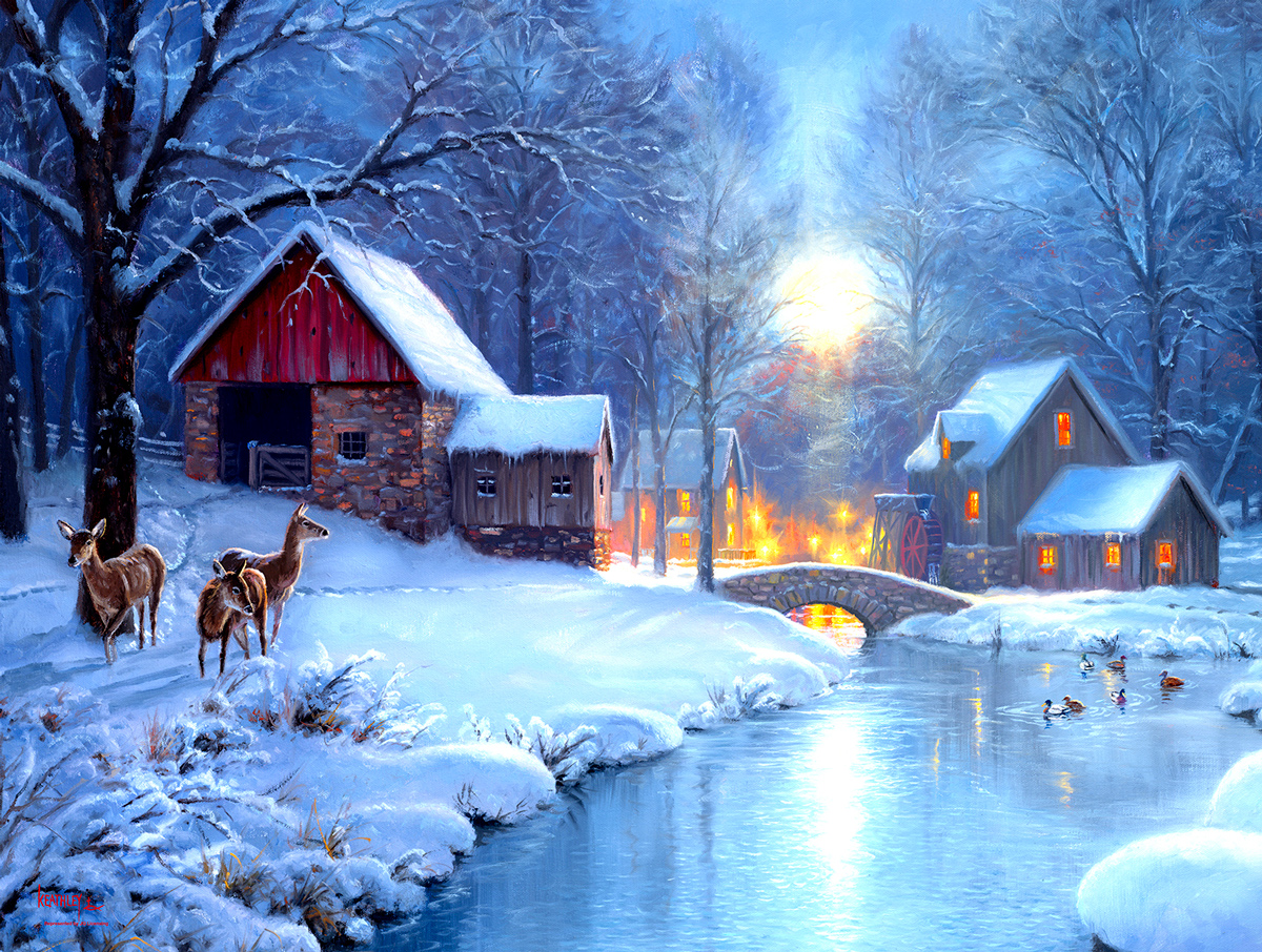 Winters Eve Winter Jigsaw Puzzle