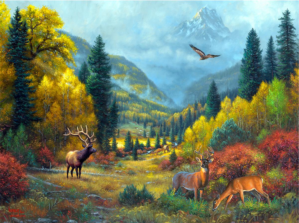 Autumn Calls Mountains Jigsaw Puzzle