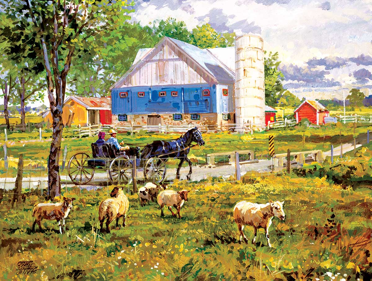 Through the Fields Animals Jigsaw Puzzle