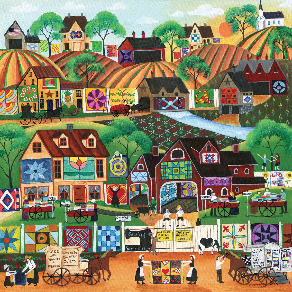 Quilter's Way Domestic Scene Jigsaw Puzzle