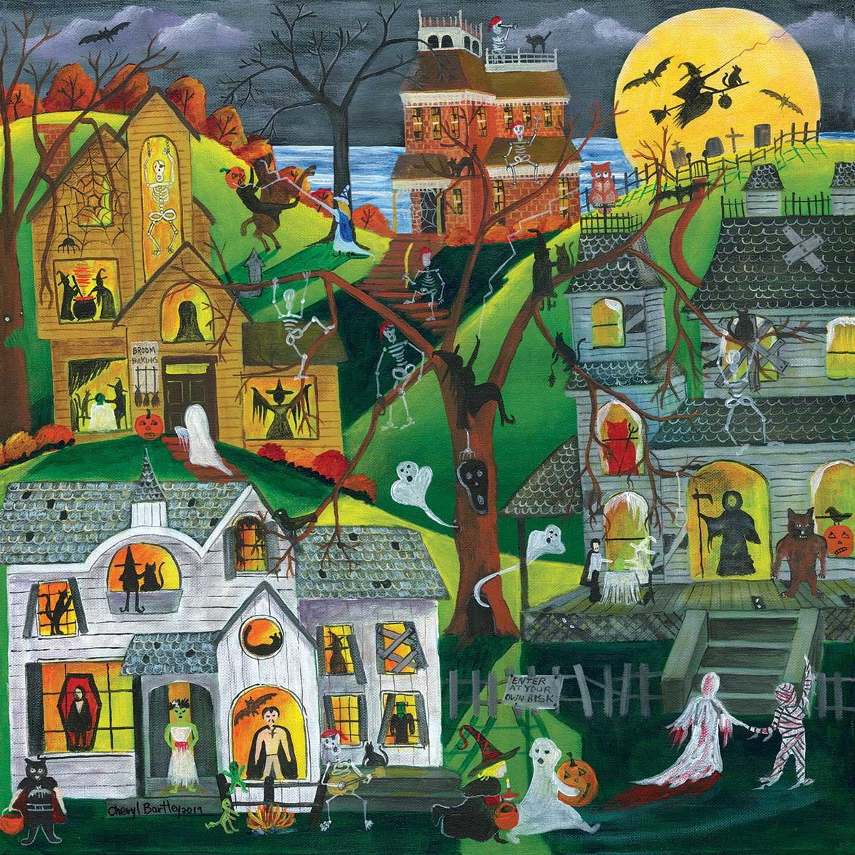 Dark, Eerie and Full of Treats Halloween Jigsaw Puzzle
