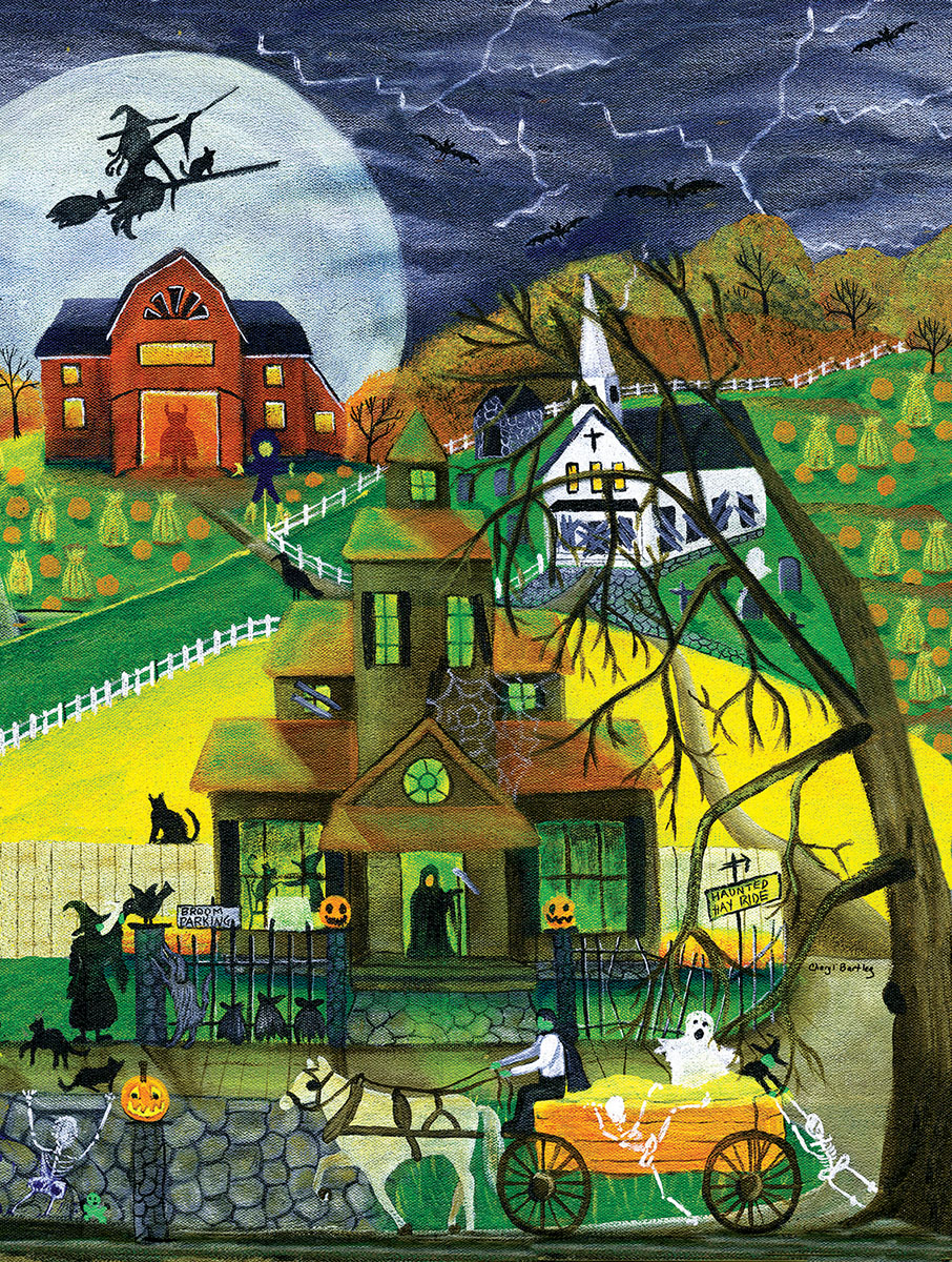 Haunted Hayride - Scratch and Dent Halloween Jigsaw Puzzle