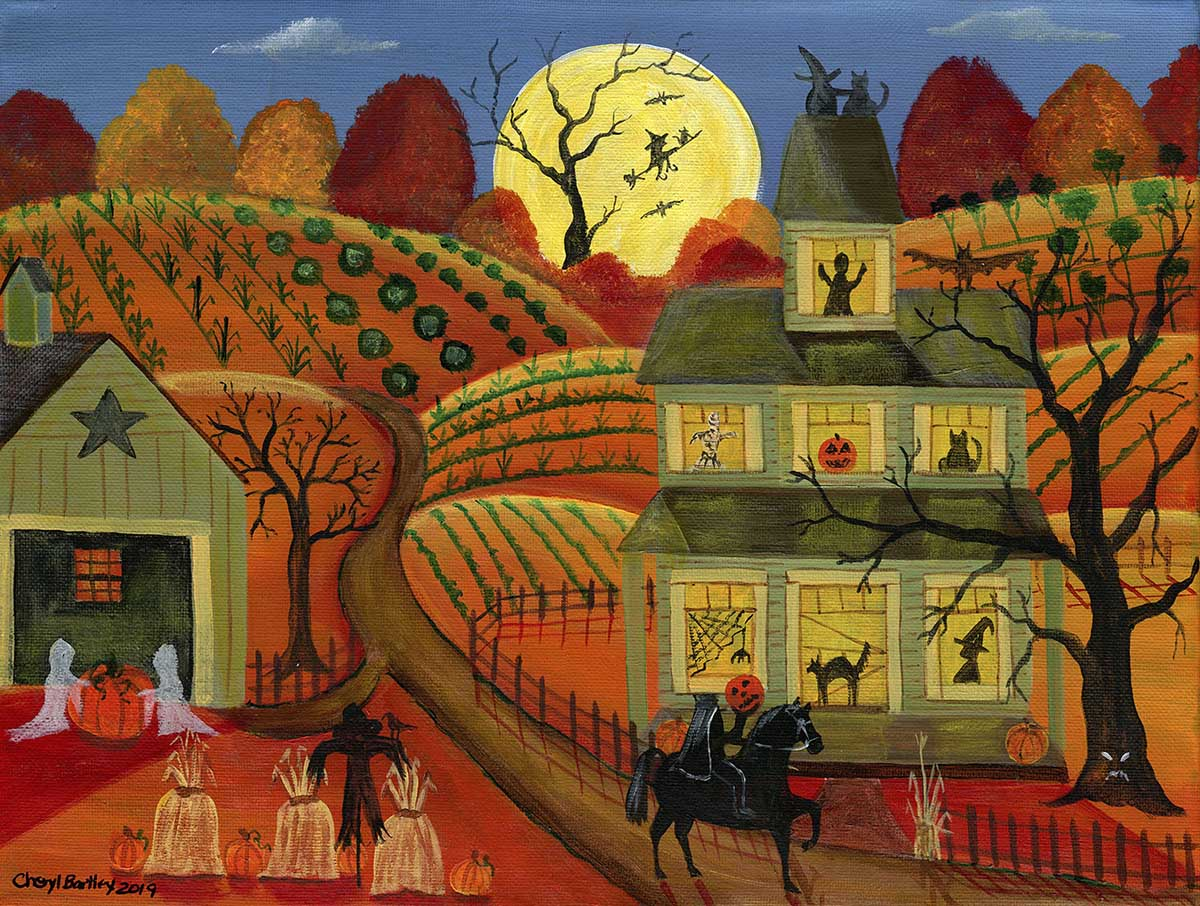 One Halloween Night Fall Jigsaw Puzzle