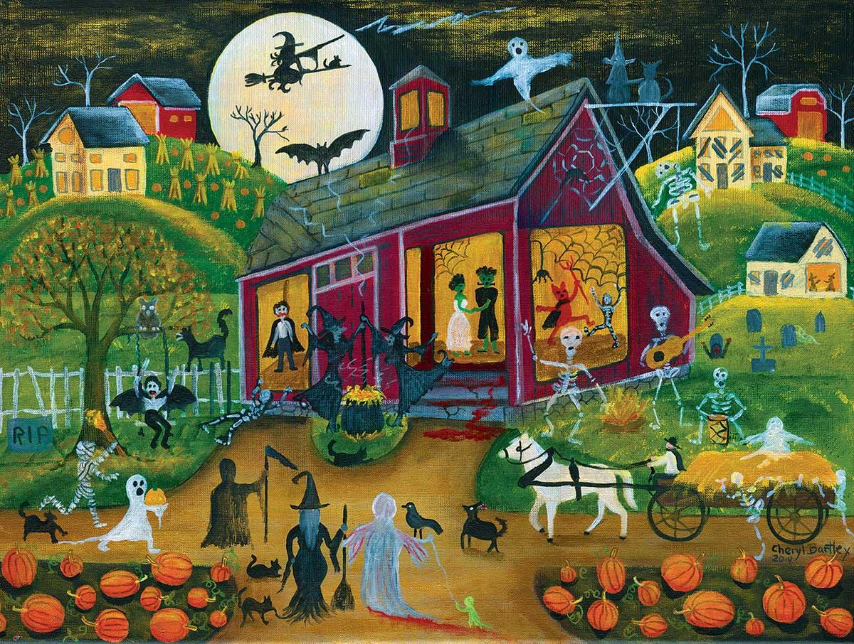 Ho Down Barn Dance Halloween Jigsaw Puzzle