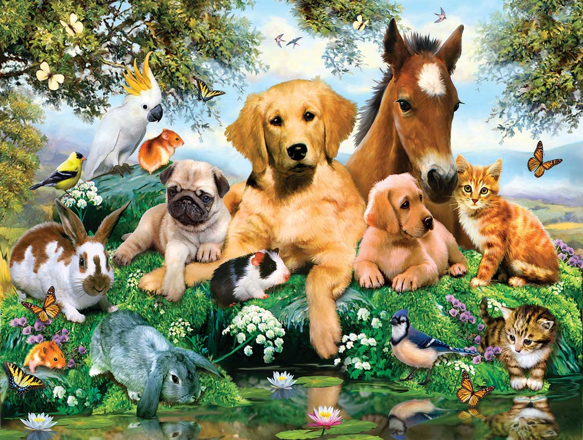Summer Pals Animals Jigsaw Puzzle