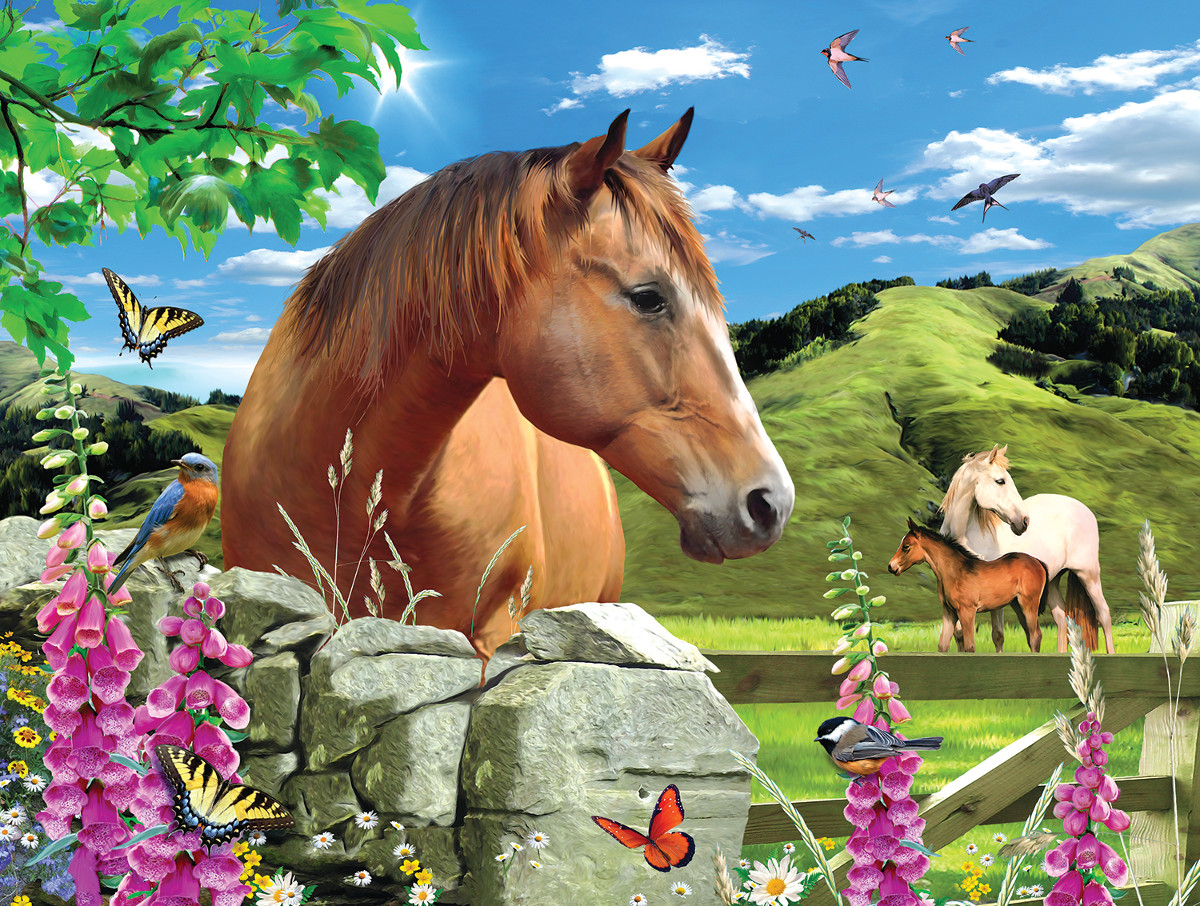 Summer Meadow Countryside Jigsaw Puzzle