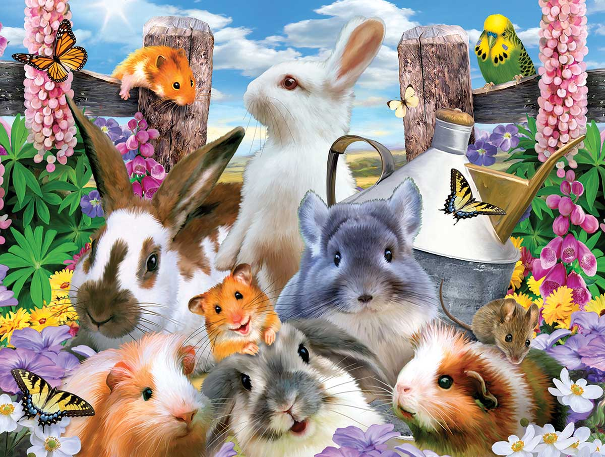 Backyard Friends Animals Jigsaw Puzzle