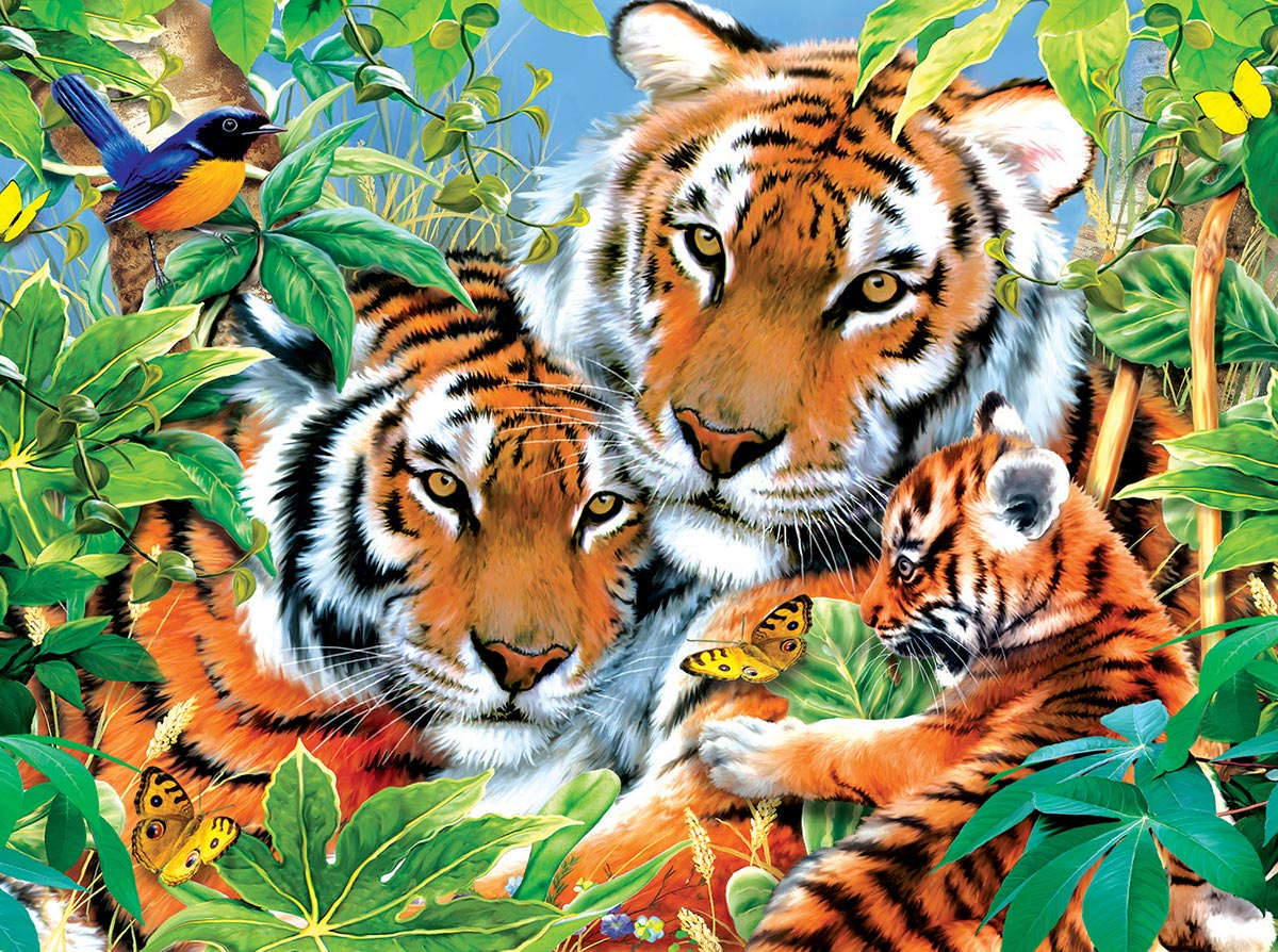 First Born Jungle Animals Jigsaw Puzzle