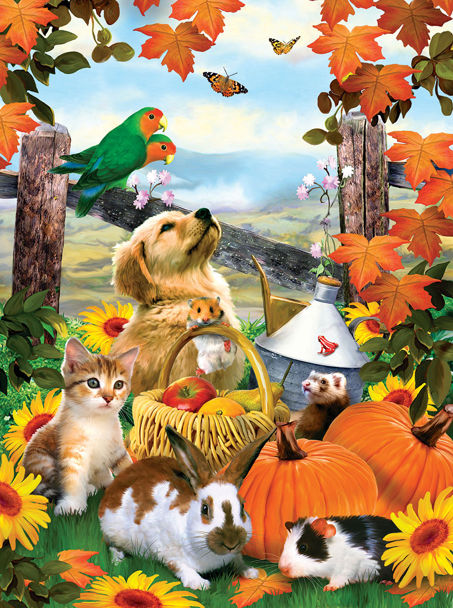 Autumn Harvest - Scratch and Dent Animals Jigsaw Puzzle