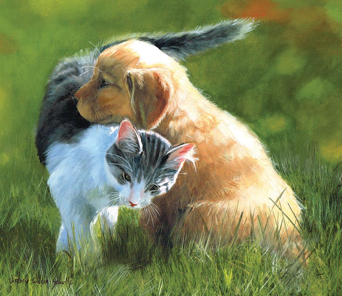Perfect Friendship Cats Jigsaw Puzzle