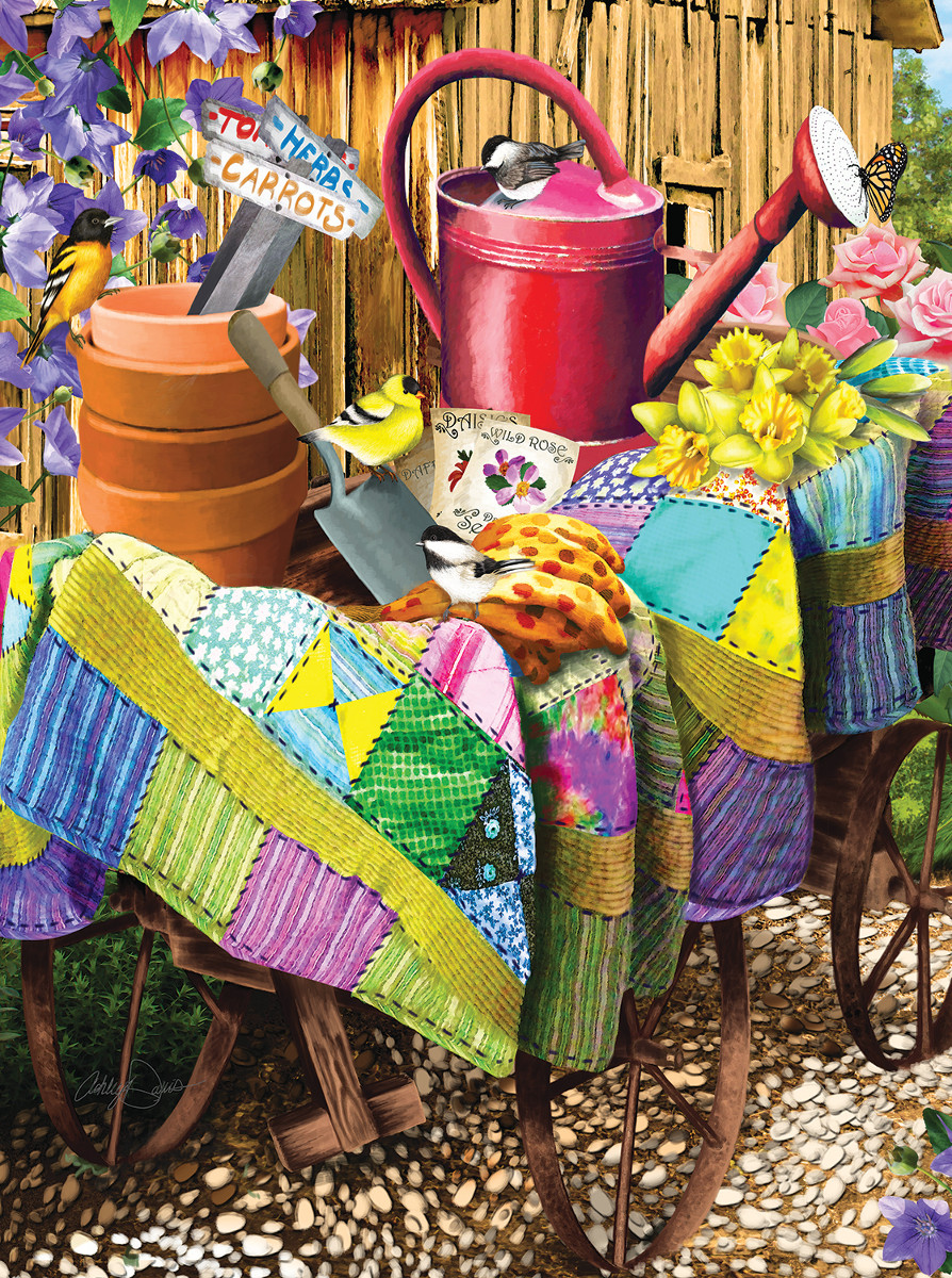 Gardening Birds - Scratch and Dent Crafts & Textile Arts Jigsaw Puzzle