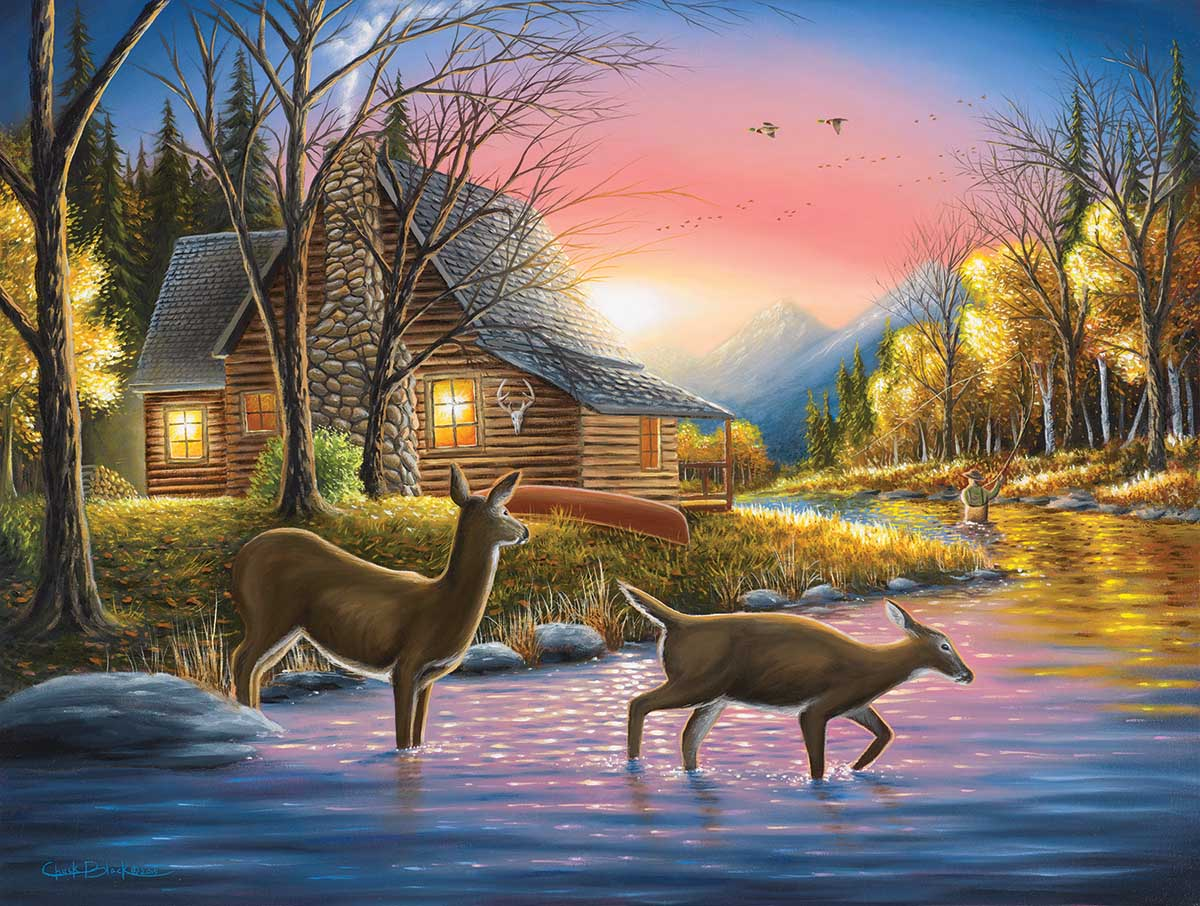 River's Crossing Forest Jigsaw Puzzle
