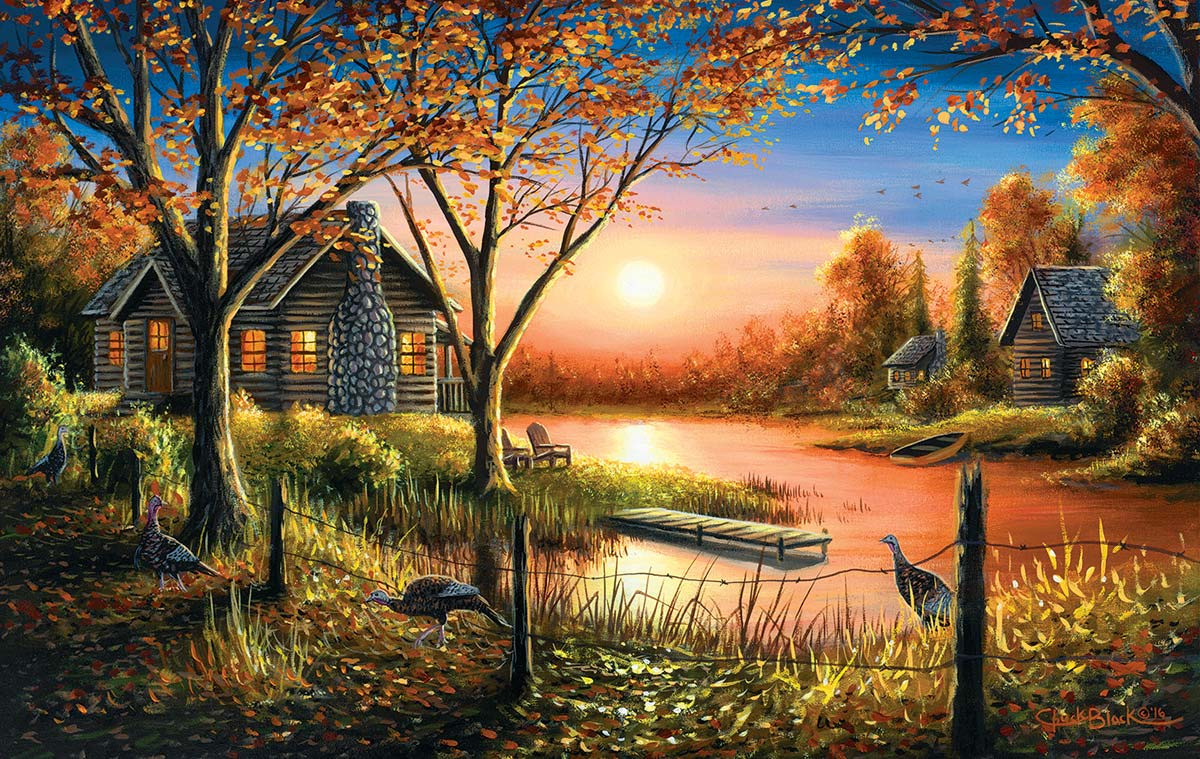 Glorious Sunset Lakes / Rivers / Streams Jigsaw Puzzle