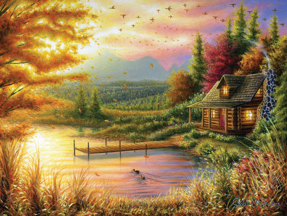 High-Country Cinnamon Lakes / Rivers / Streams Jigsaw Puzzle