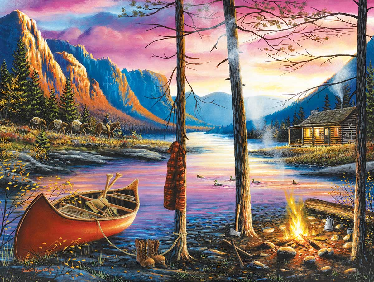 Cabin Homecoming Mountains Jigsaw Puzzle