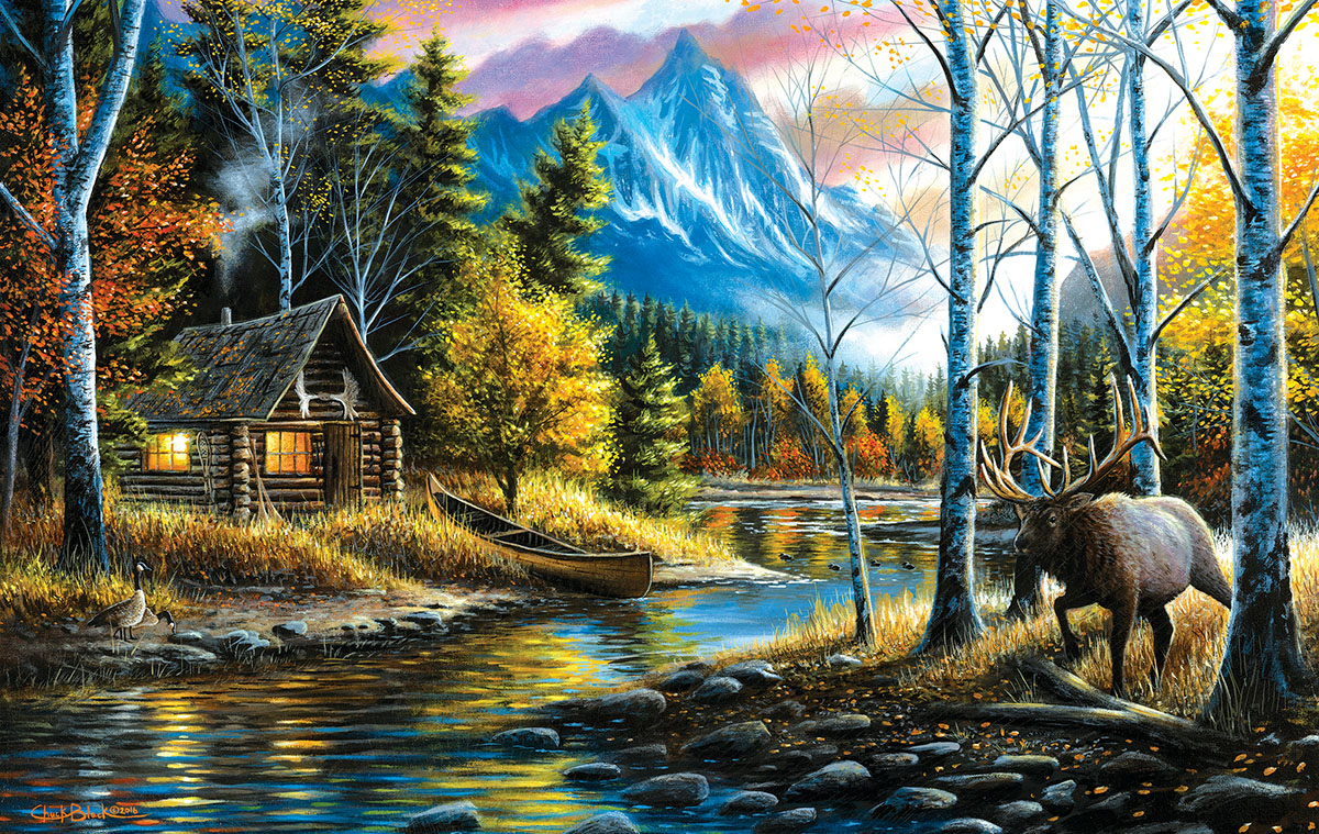 Living the Dream Mountains Jigsaw Puzzle