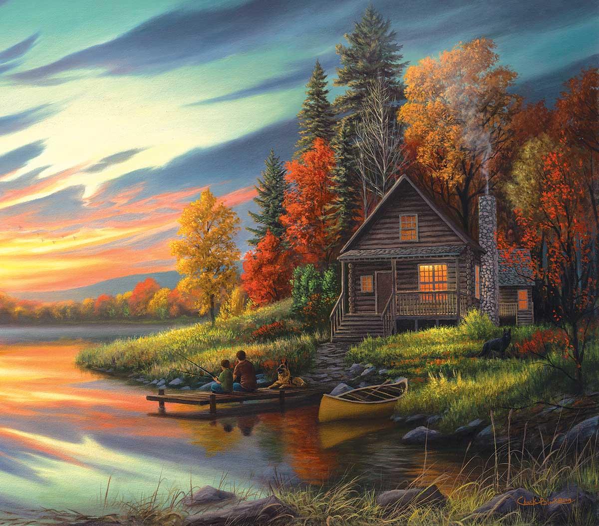 Lakeside Memories Fall Jigsaw Puzzle