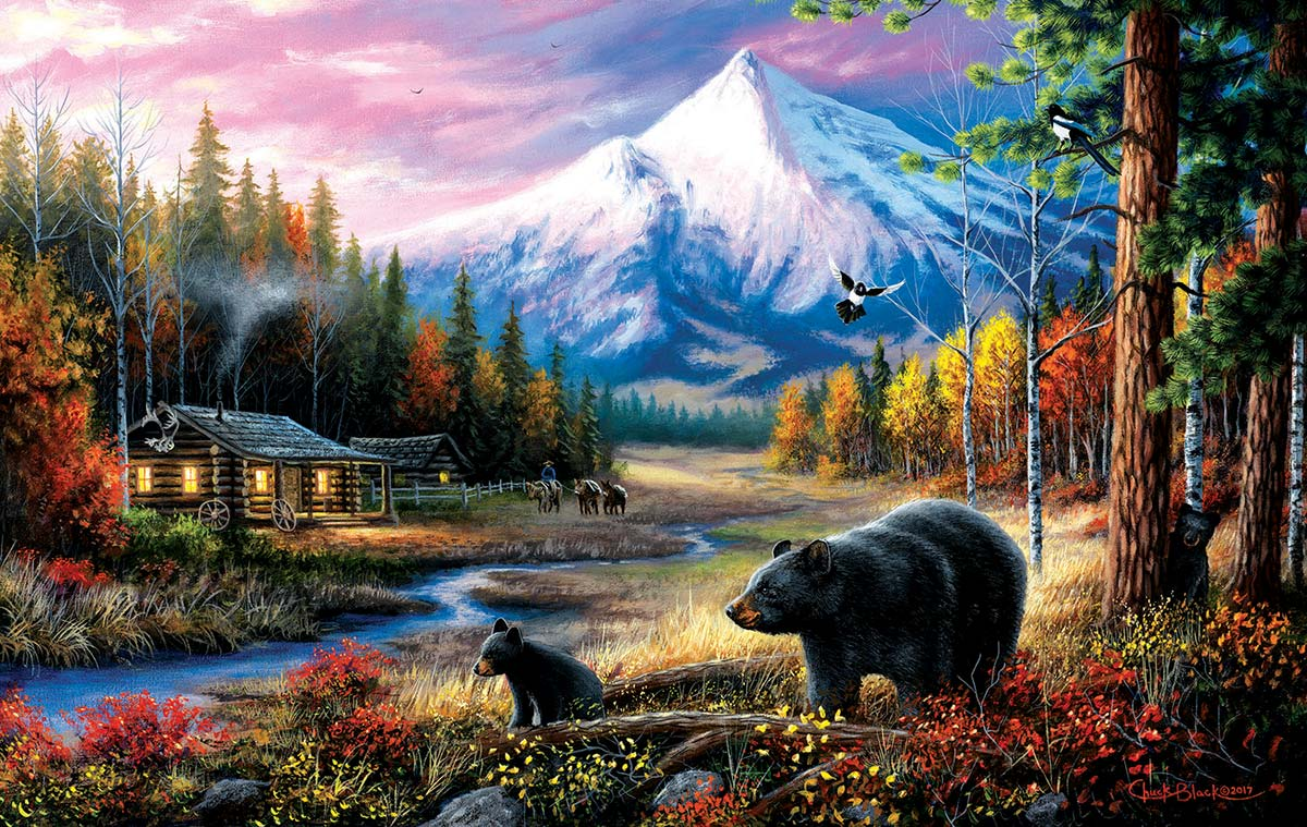 Routine Visitors Mountains Jigsaw Puzzle