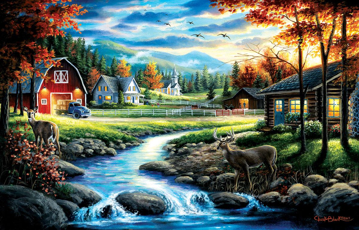 Country Sunday Farm Jigsaw Puzzle