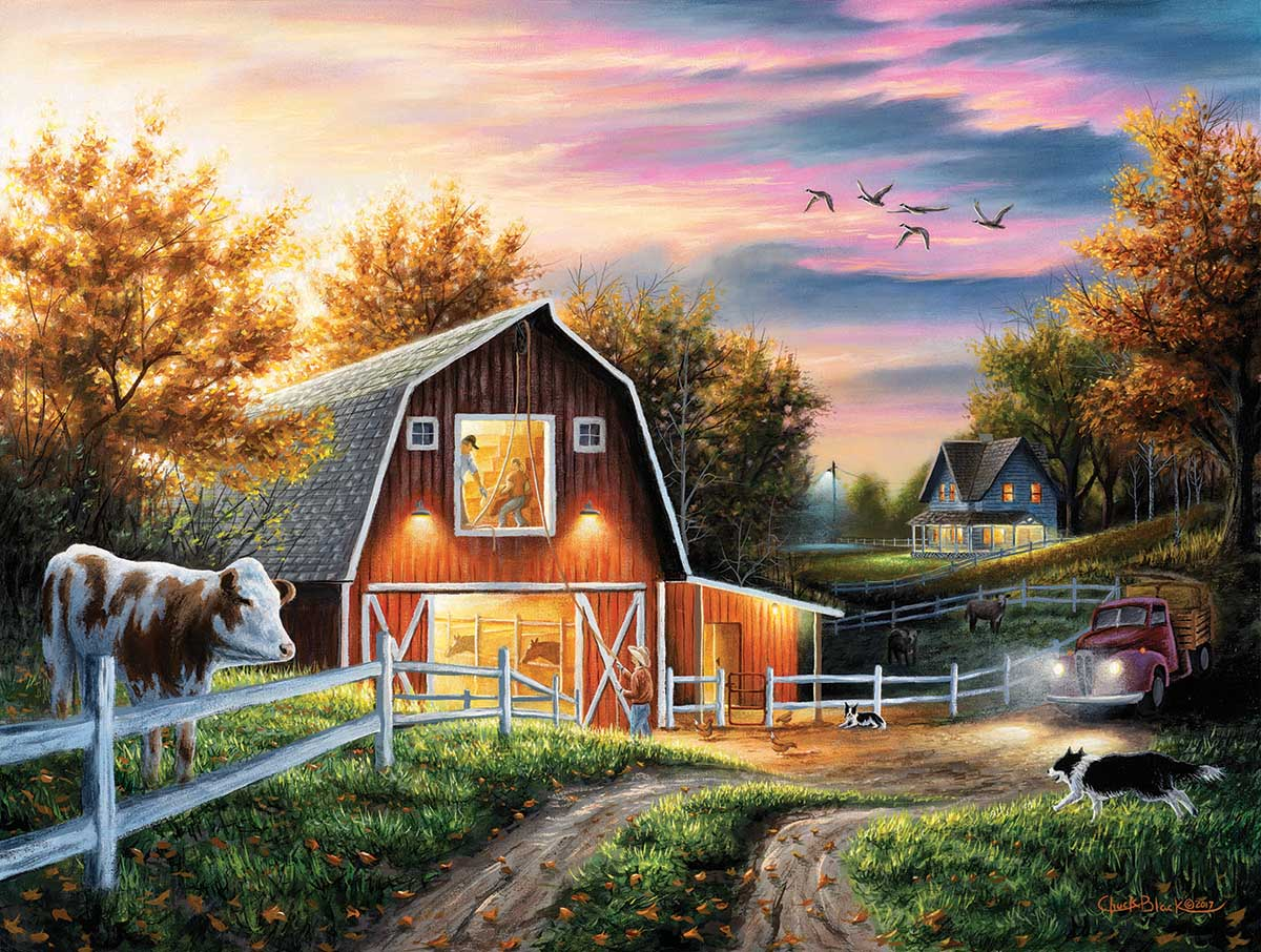 Living the Good Life Farm Jigsaw Puzzle