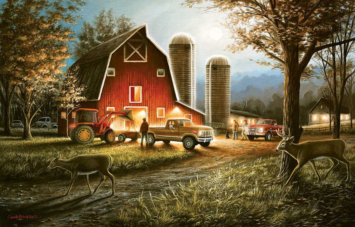 Harvest Nights Animals Jigsaw Puzzle