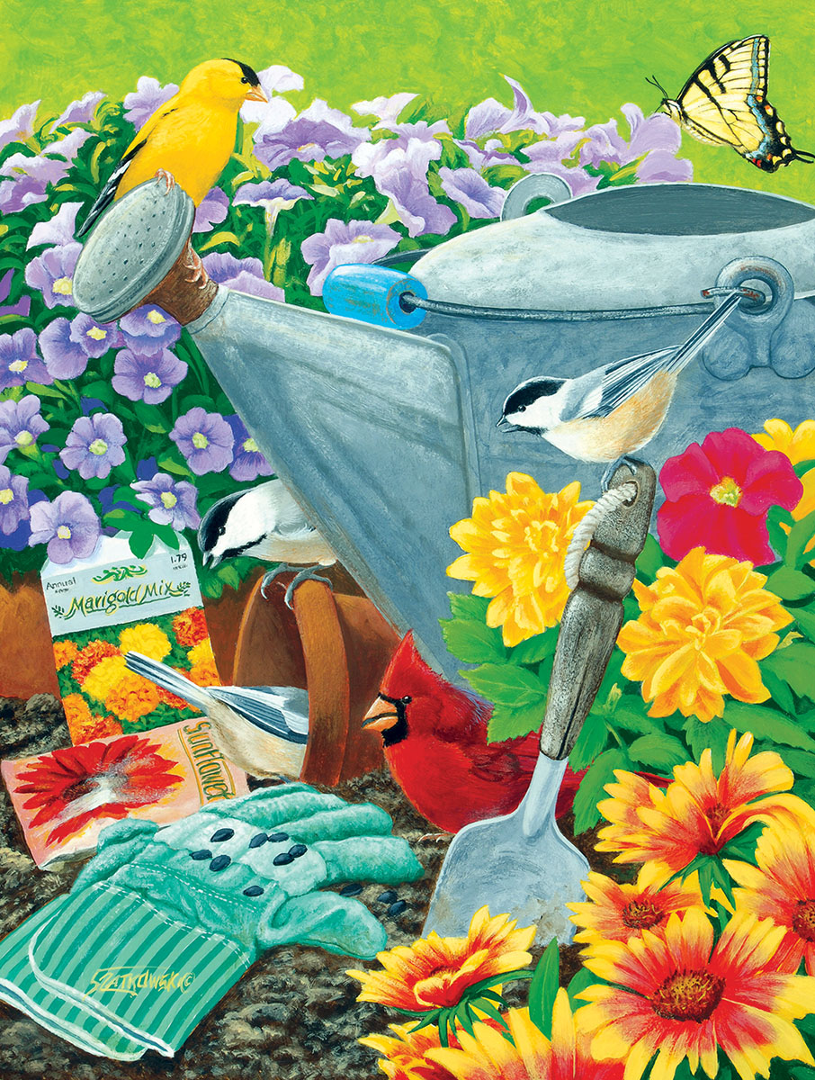 Welcome to the Garden Party Garden Jigsaw Puzzle