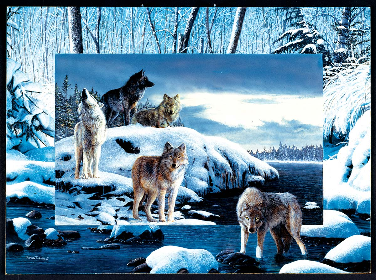 Ice Wolves Wolves Jigsaw Puzzle