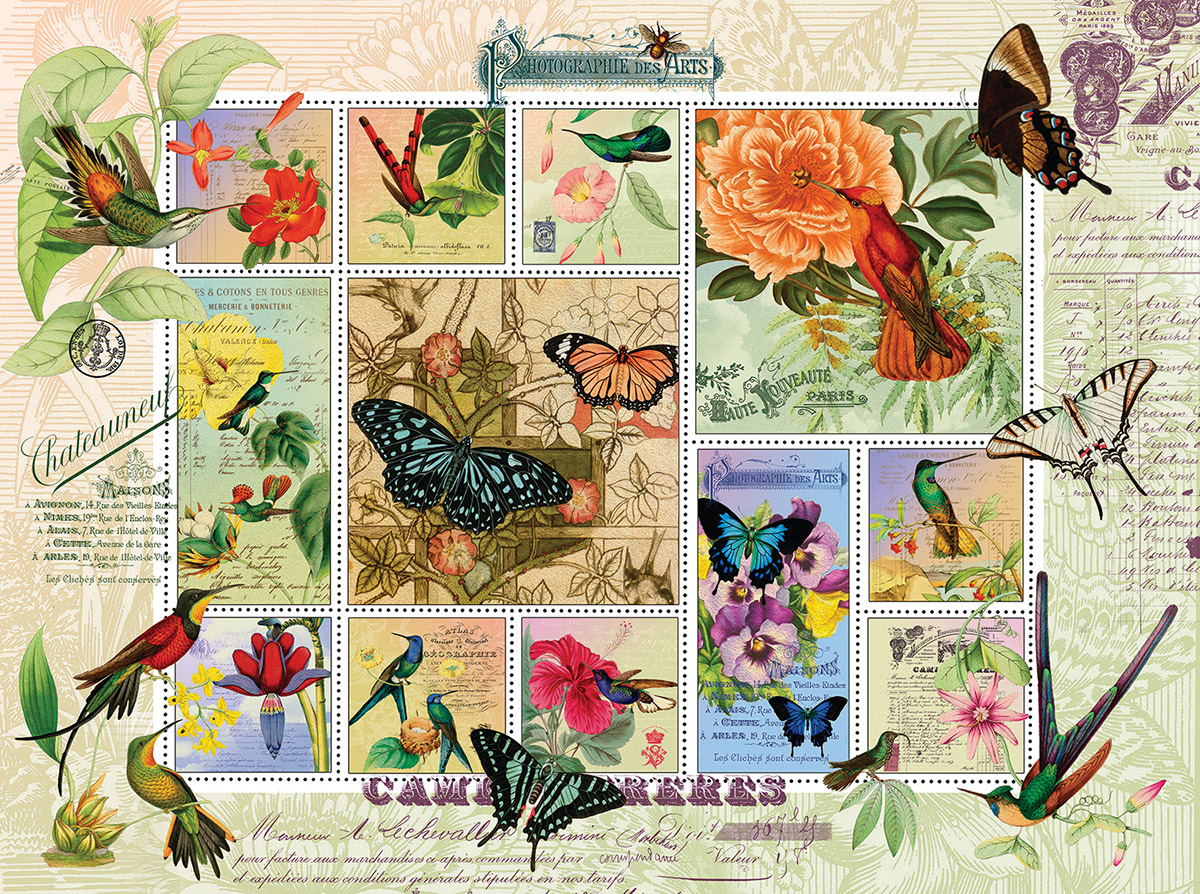 Butterfly and Hummingbird Flight Butterflies and Insects Jigsaw Puzzle