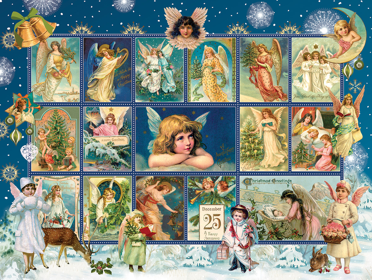 Christmas Snow Angels Angels Jigsaw Puzzle