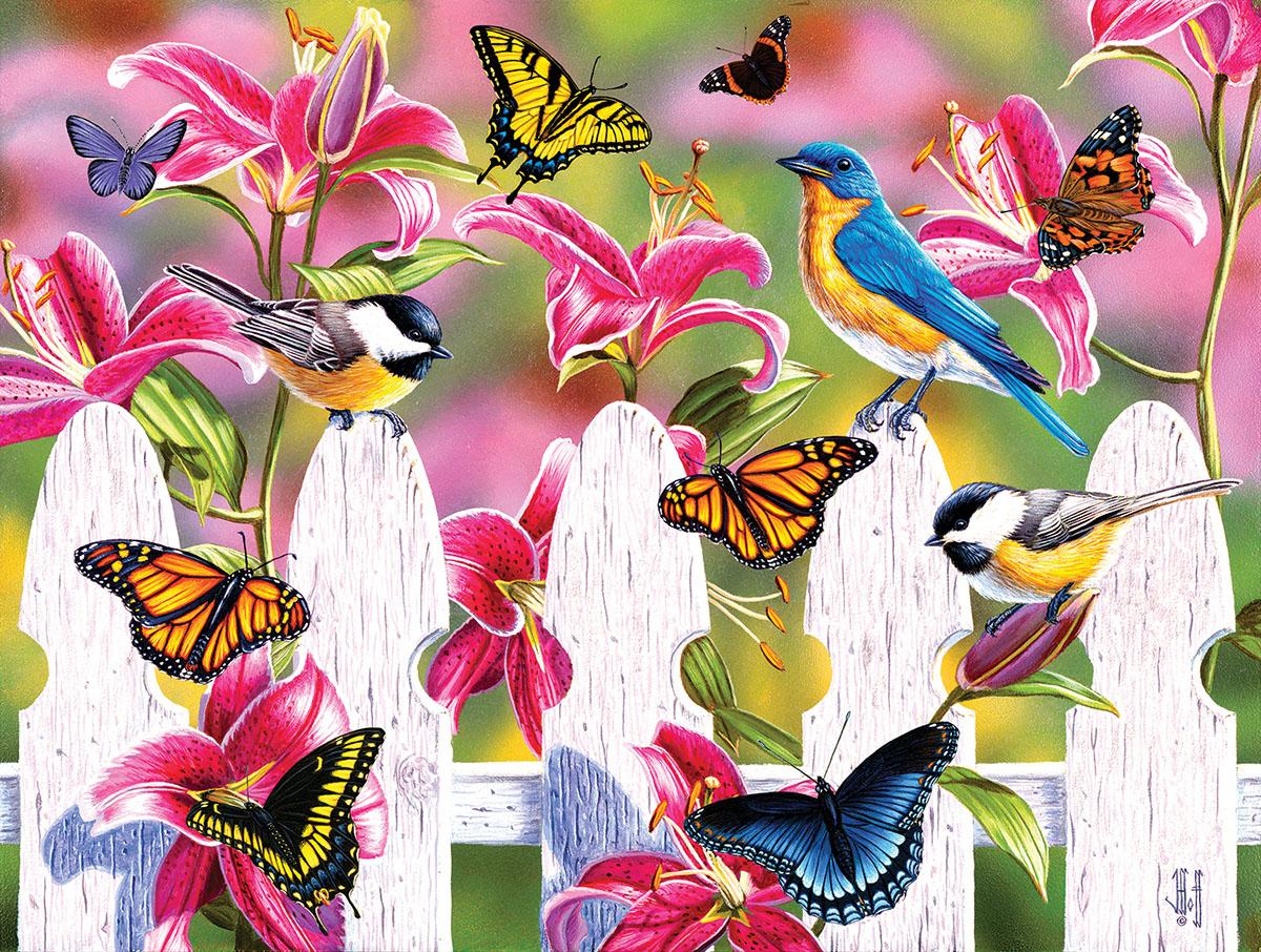 Summer Gathering Birds Jigsaw Puzzle
