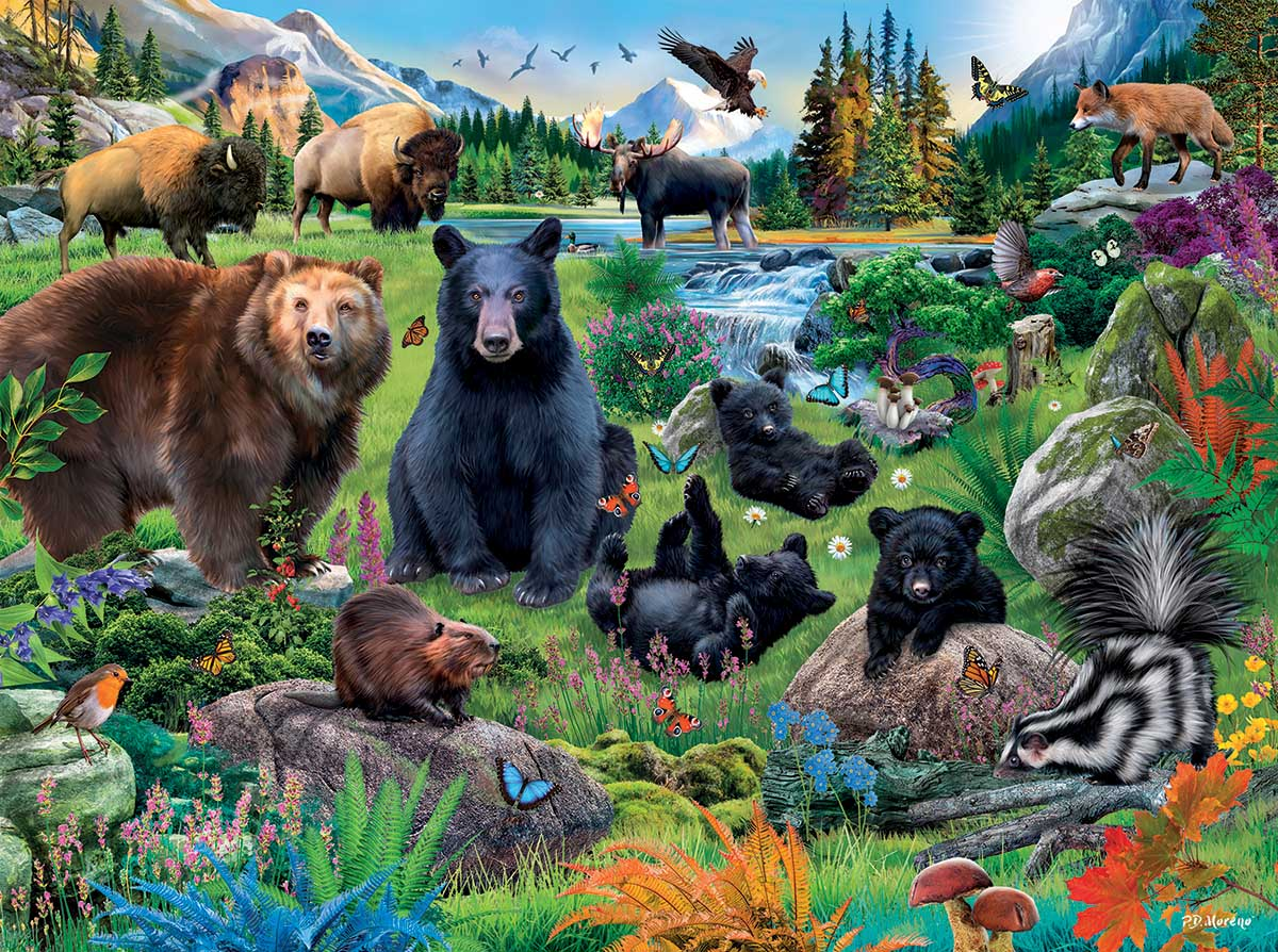 Meadowland Summer Animals Jigsaw Puzzle