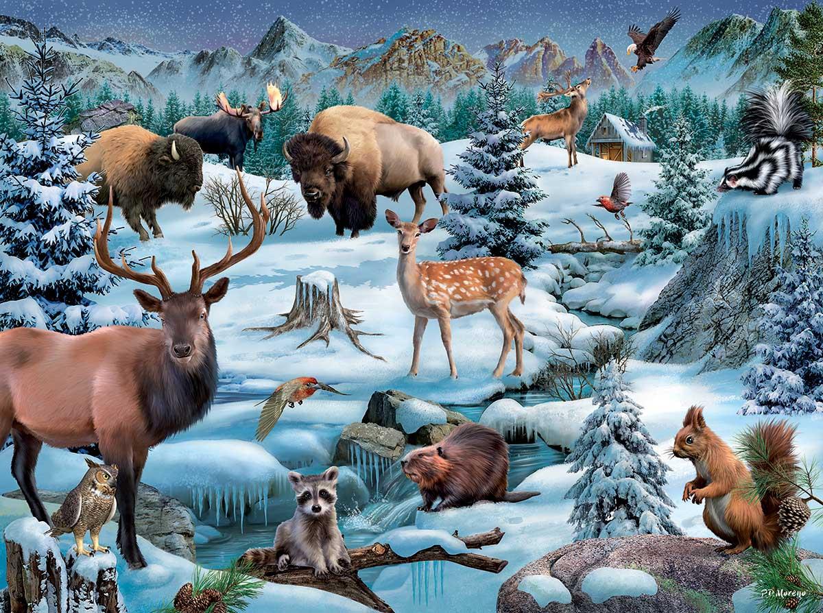 Meadowland Winter Animals Jigsaw Puzzle