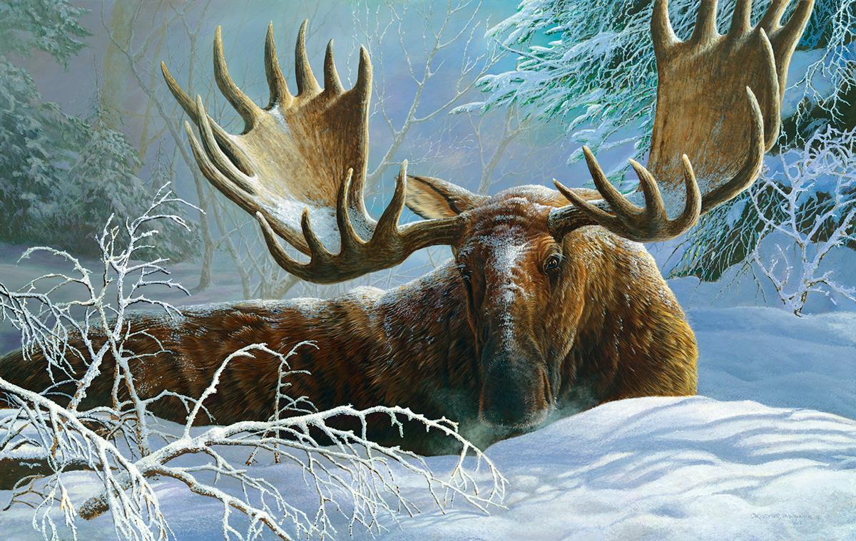 Winter Blanket Wildlife Jigsaw Puzzle