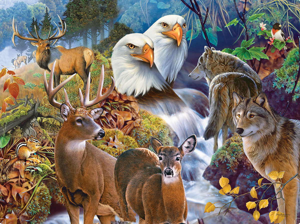 Forest Neighbors Animals Jigsaw Puzzle