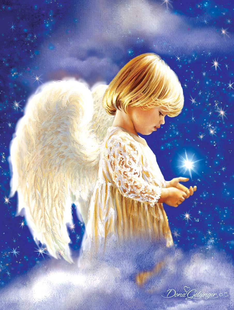 Holding a Star Angels Jigsaw Puzzle