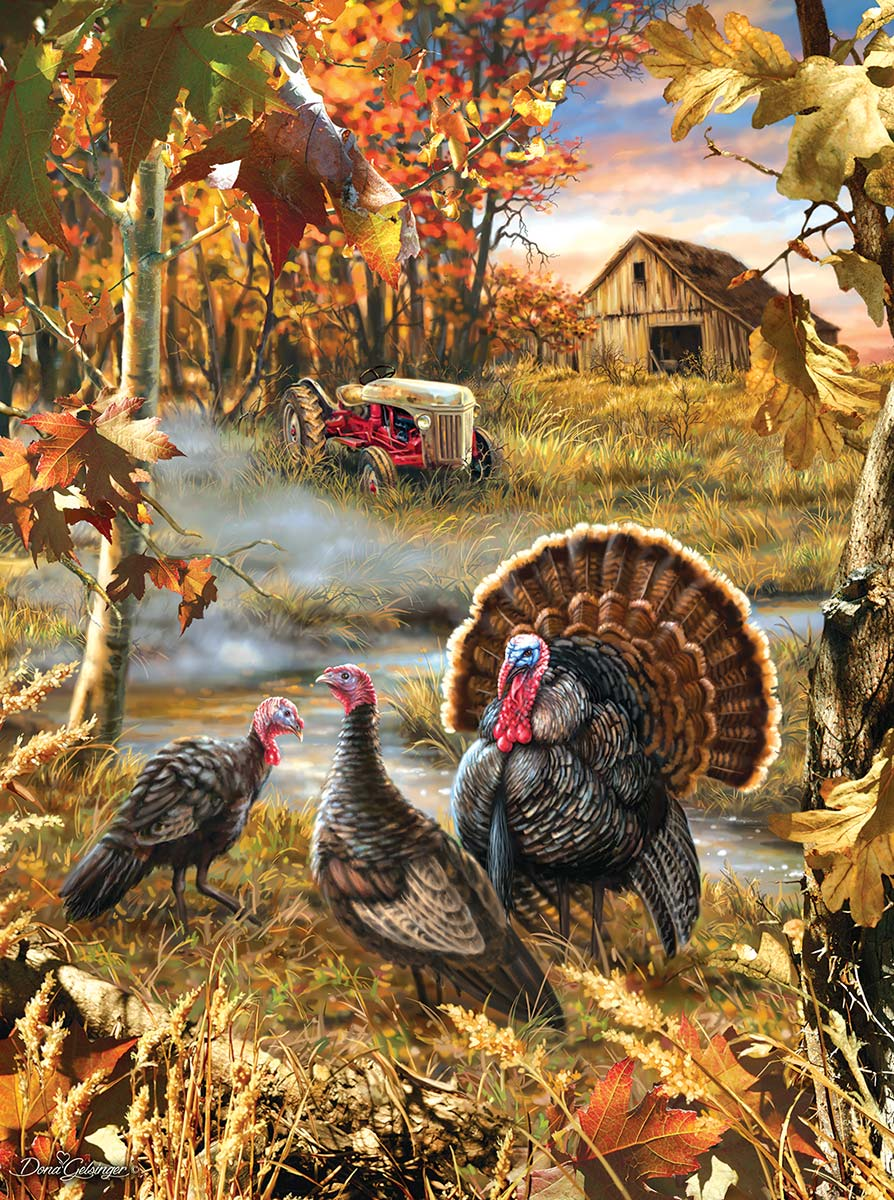 Turkey Ranch Farm Jigsaw Puzzle