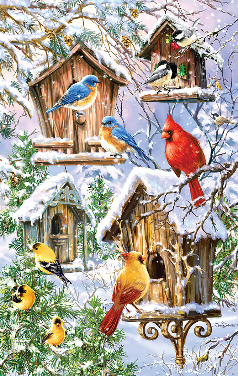 Snow Birds Birds Jigsaw Puzzle