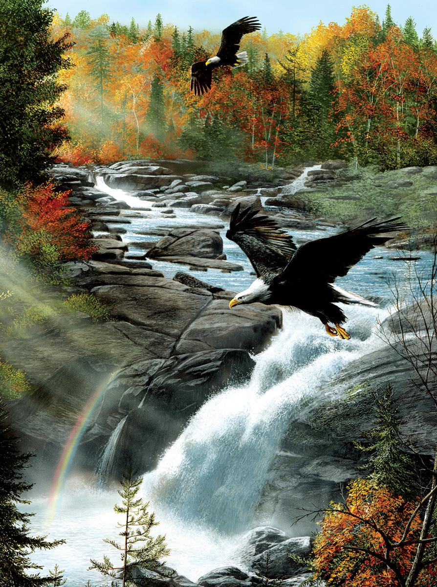 Gooseberry Falls Eagles Jigsaw Puzzle