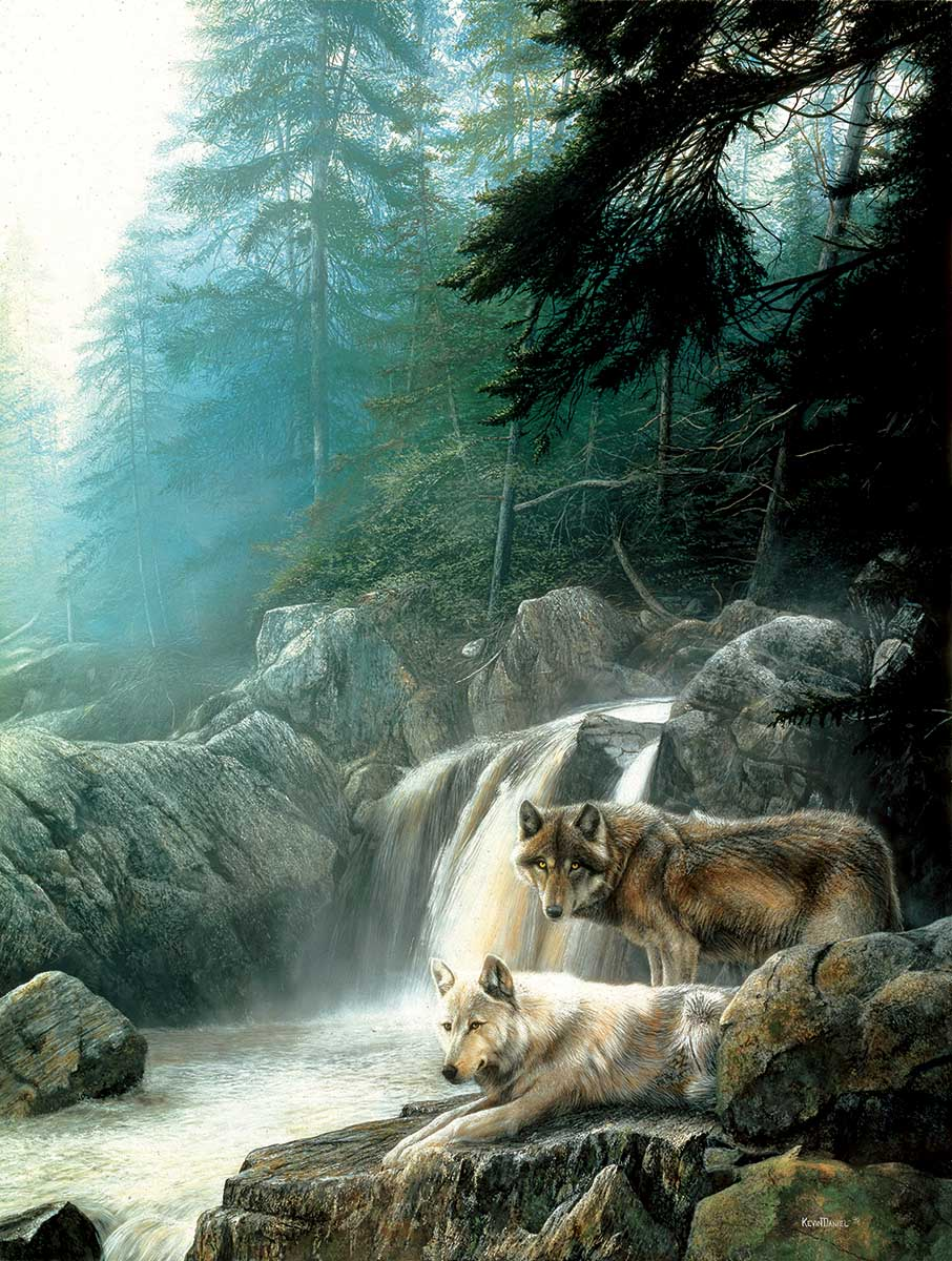 Lonely Vigil Wolves Jigsaw Puzzle