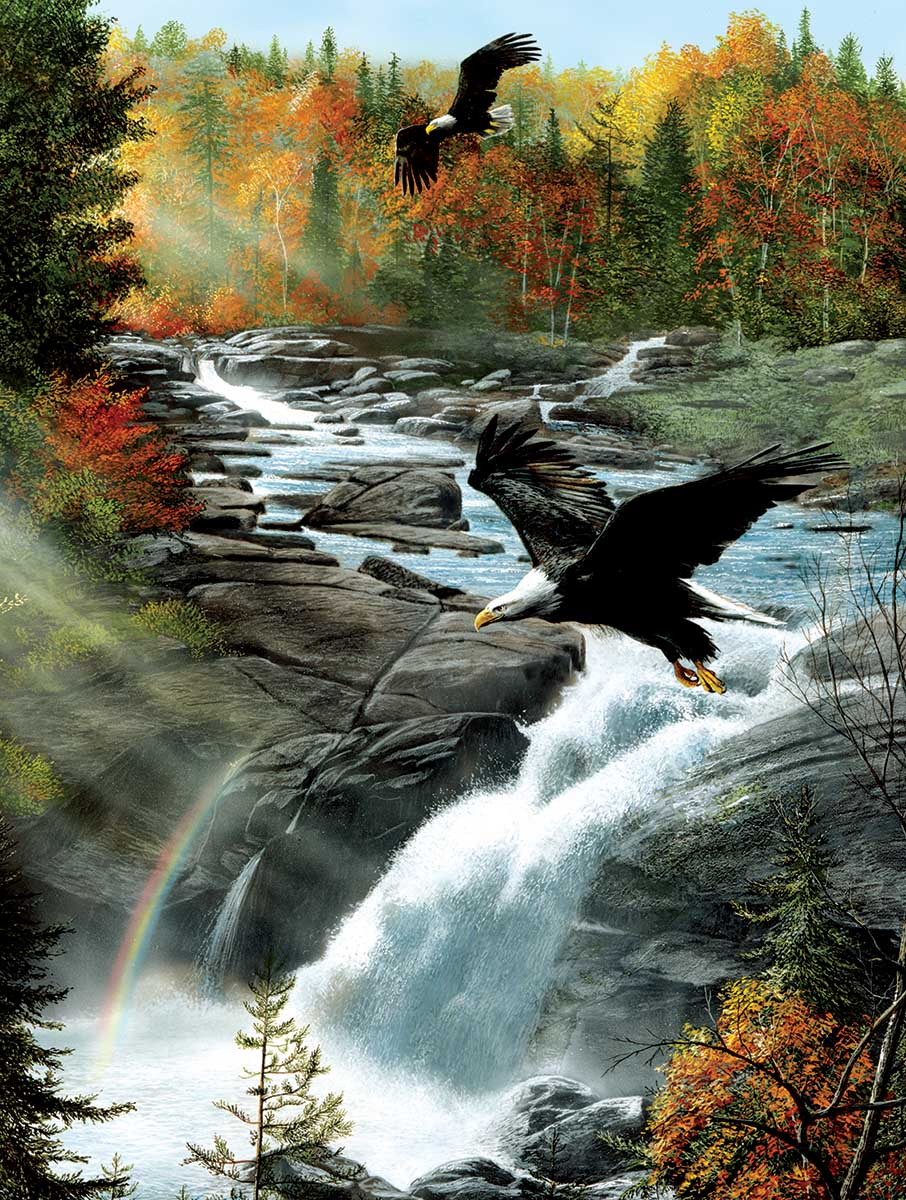 Gooseberry Falls Eagles Jigsaw Puzzle
