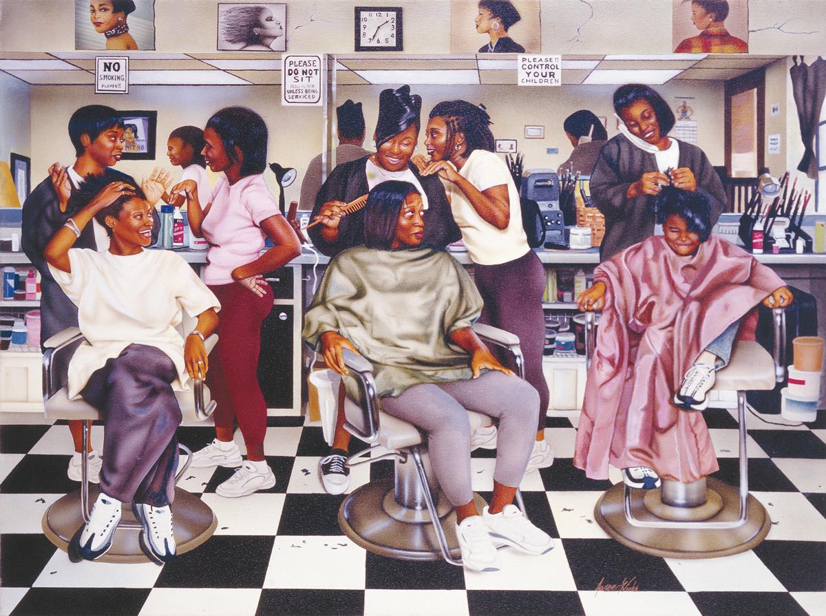 Beauty Shop Gossip African American Jigsaw Puzzle
